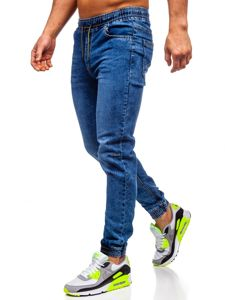 Tmavě modré pánské džínové jogger kahoty Bolf HY679