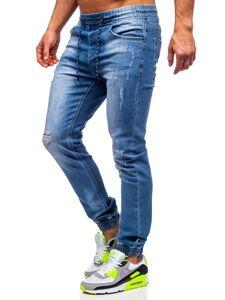 Tmavě modré pánské džínové jogger kahoty Bolf KA1720
