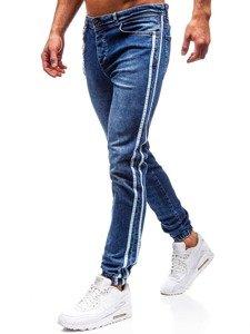 Tmavě modré pánské džínové jogger kalhoty Bolf 2057