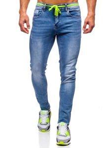 Tmavě modré pánské džíny skinny fit Bolf KX555
