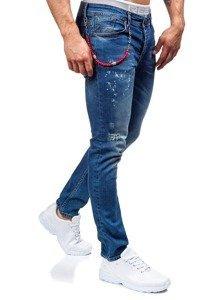 Tmavě modré pánské džíny slim fit Bolf 303