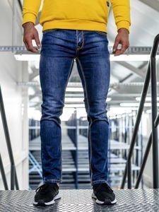 Tmavě modré pánské džíny straight leg Bolf KA1125