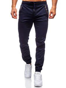 Tmavě modré pánské jogger kalhoty Bolf KA9600
