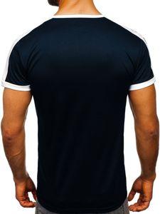 Tmavě modré pánské tričko s potiskem Bolf SS10990