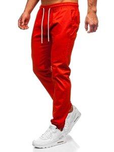 Tmavě oranžové pánské jogger kalhoty Bolf 1145