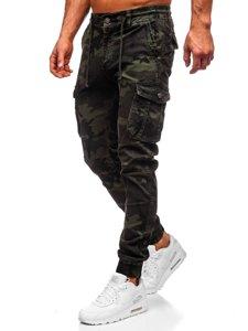 Tmavě zelené pánské maskáčové jogger kapsáče Bolf CT6019
