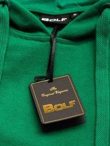 Zelená pánská mikina s kapucí Bolf 5361