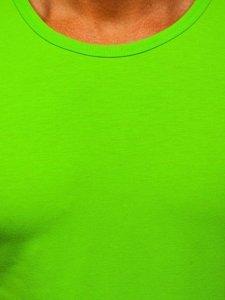 Zelené pánské tílko tank top bez potisku Bolf 99001