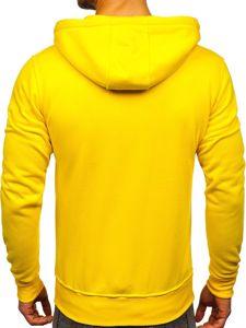 Žlutá pánská mikina na zip s kapucí Bolf 2008