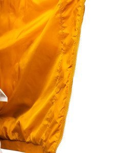 Žlutá pánská prošívaná vesta s kapucí Bolf 1261