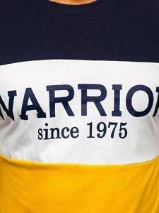 Žluté pánské tričko s potiskem Bolf 100693
