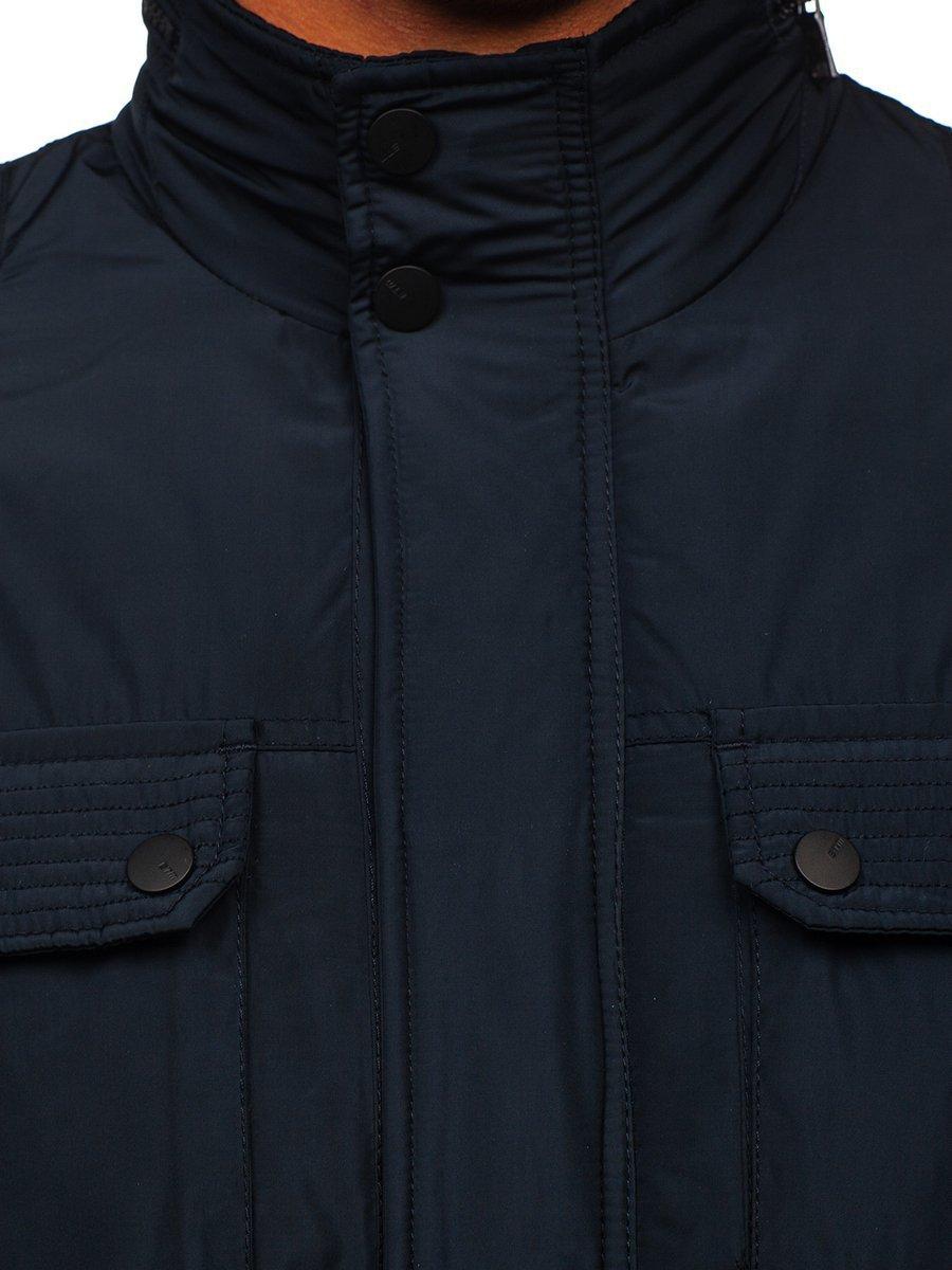 Tmavě modrá pánská elegantní přechodová bunda Bolf 1668 ae626cdea0