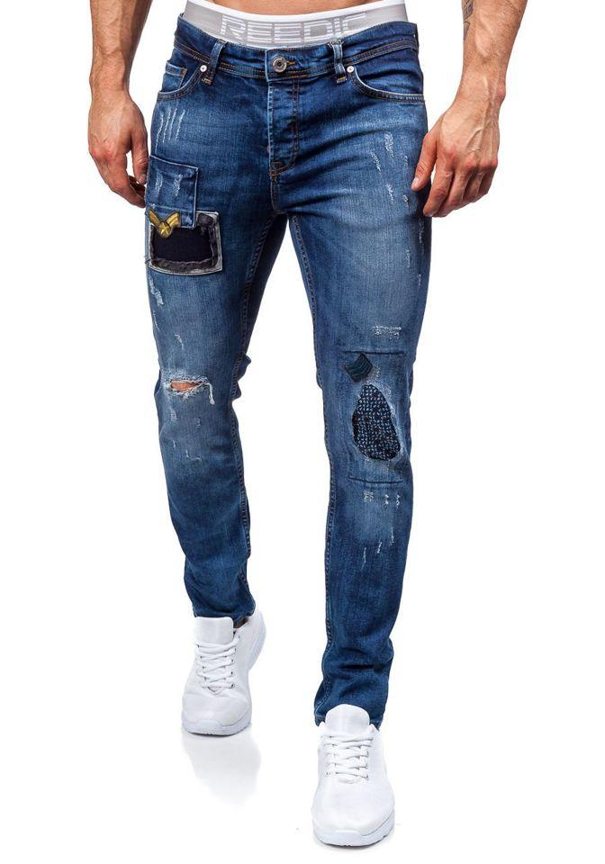 Tmavě modré pánské džíny Bolf 302 c54885ab83
