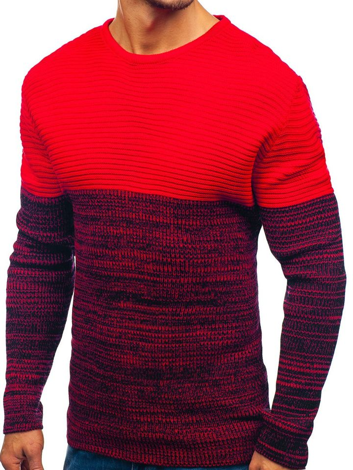 ff50402a73d Červený pánský svetr Bolf 164