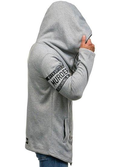 Pánská šedá mikina s kapucí Bolf Y36-3