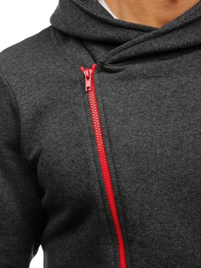 Pánská mikina BOLF 05S antracitovo-červená