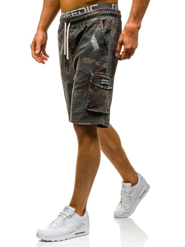 Men's Camo Shorts Khaki-Grey Bolf 1820